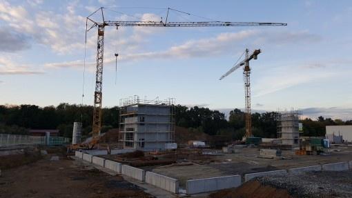 Visite de chantier chez ERIMA : la construction du « Home of Teamsport » avance selon les plans