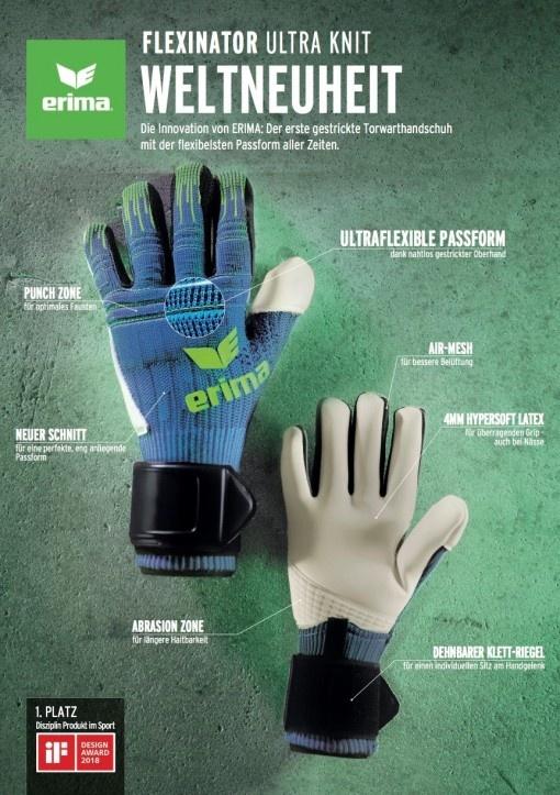 FLEXINATOR Ultra Knit: livraison par ERIMA d'un gant innovateur