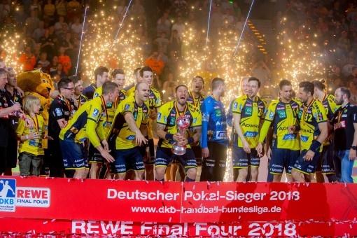 Soutenus par ERIMA, les Rhein-Neckar Löwen remportent la coupe DHB